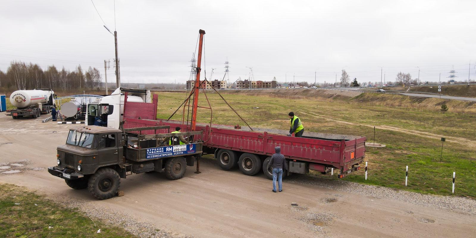 Демонтаж бетонных опор в п. Зарубино. Костромской район
